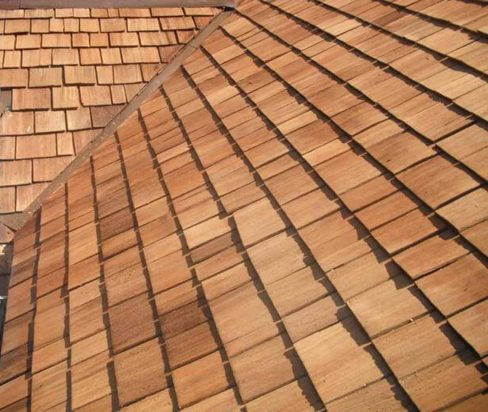 completed cedar roofing
