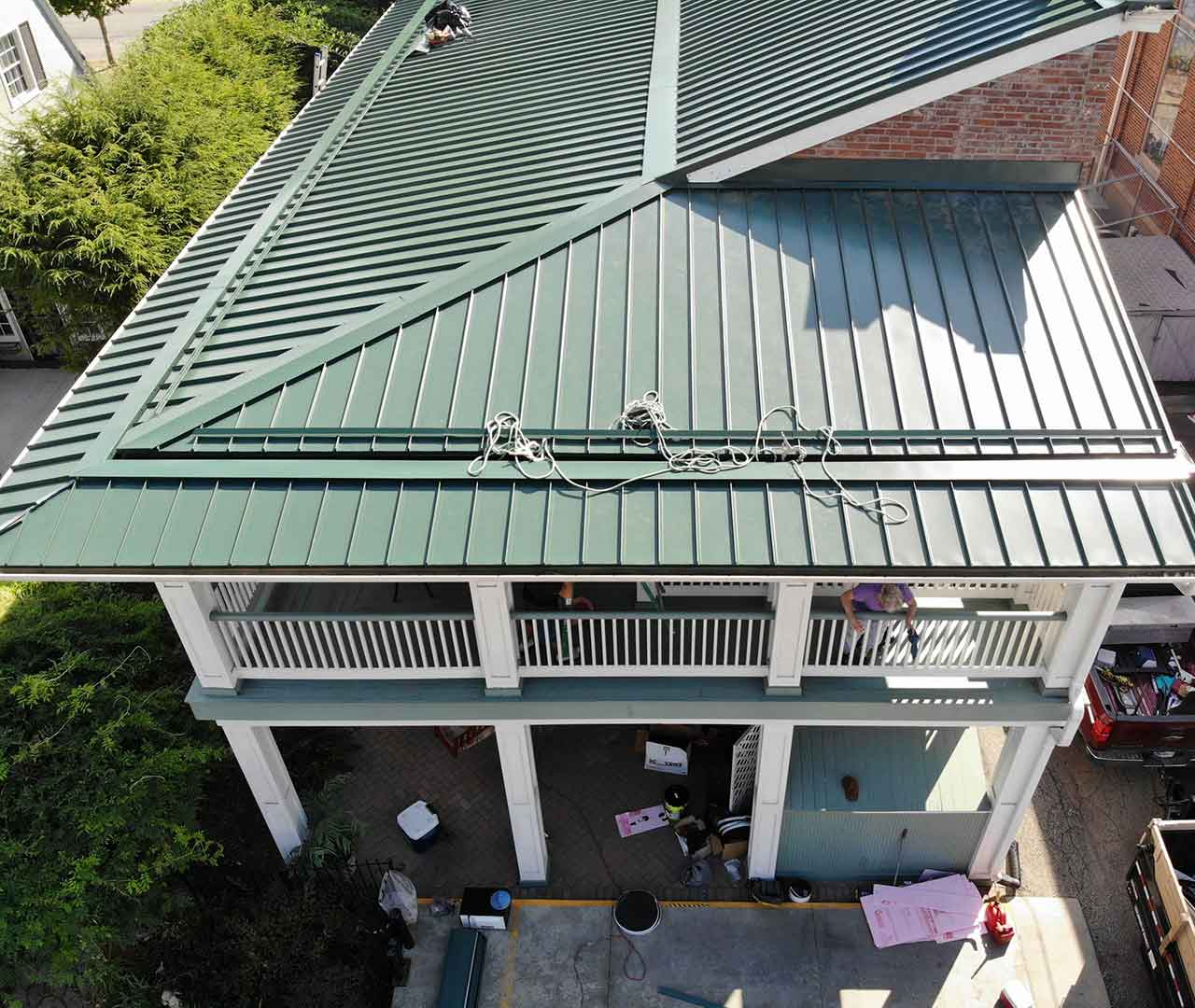 metal roofing project in indianapolis
