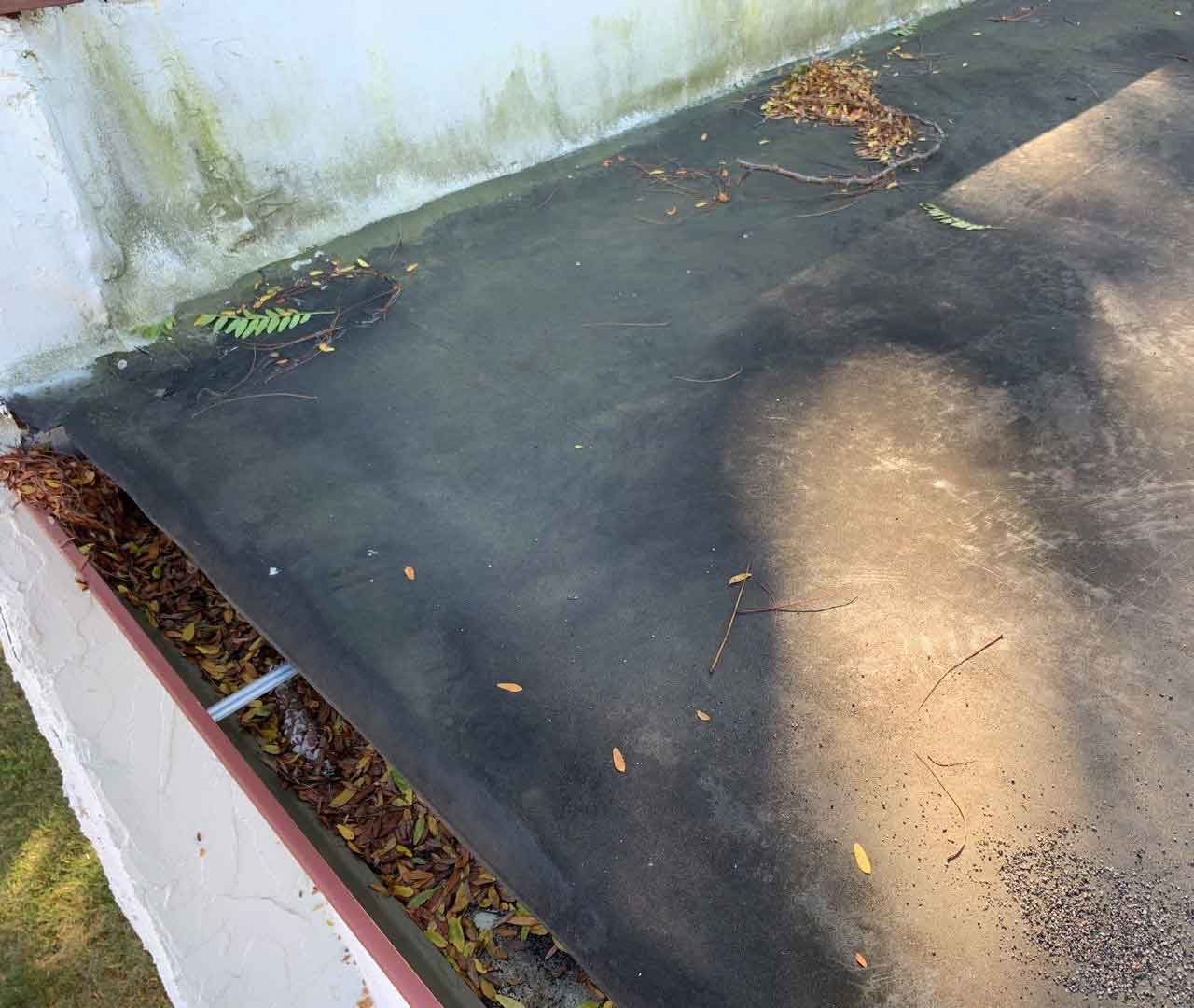 water stains on roof