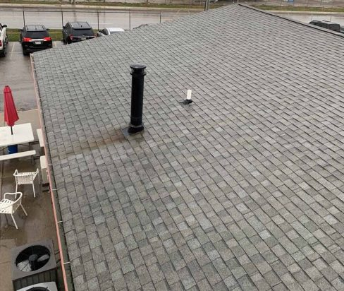a shingle roofing project in indianapolis