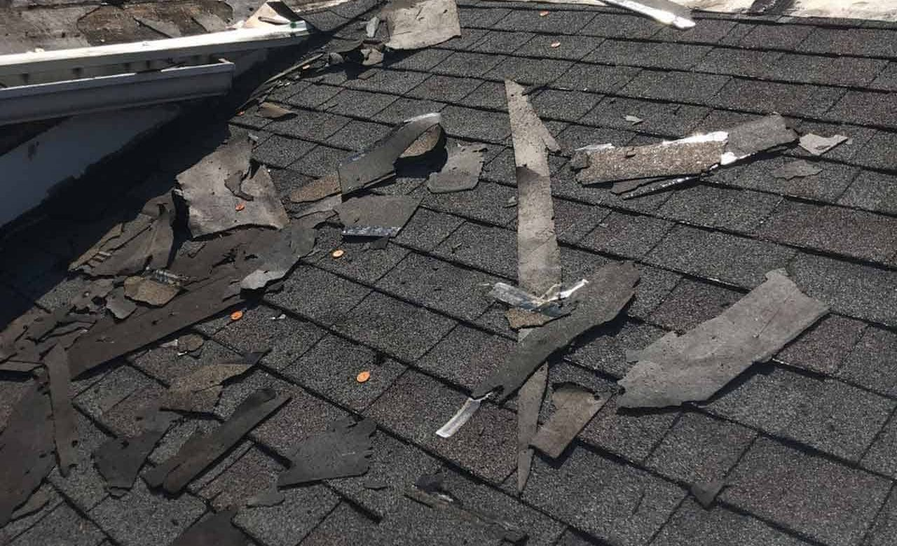 broken tile roofs