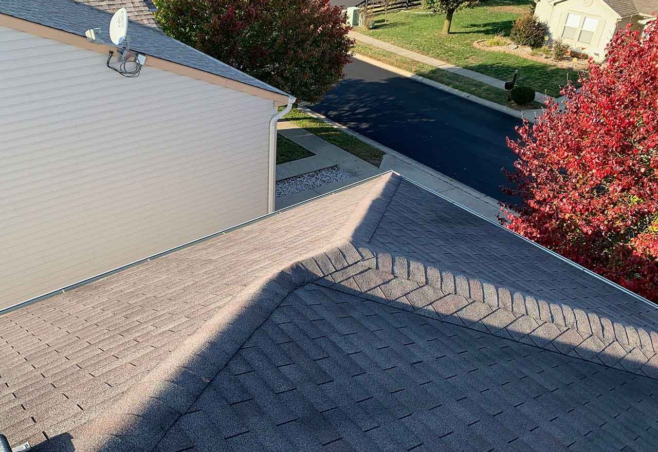 a residential roofing project in indianapolis