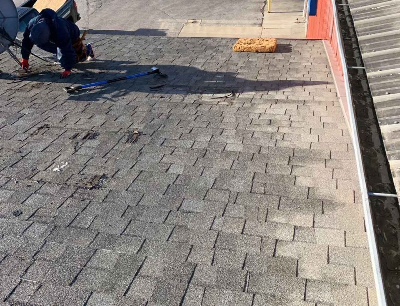 a roof repair project in indianapolis