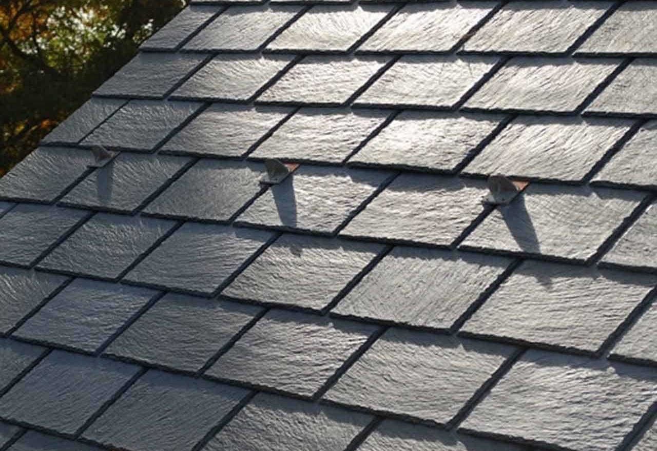 finished slate roof